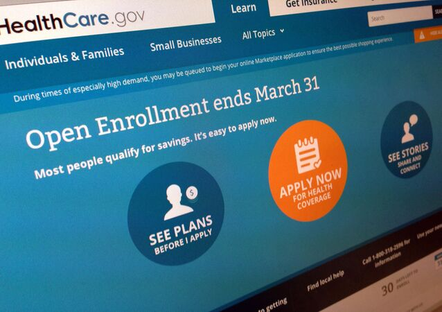 This March 1, 2014 file photo shows part of the website for HealthCare.gov
