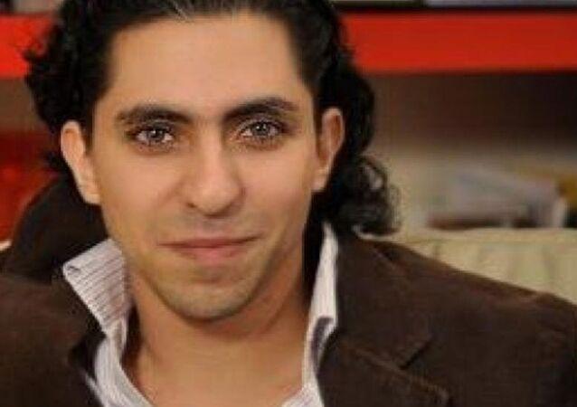 A screenshot of Raif Badawi.