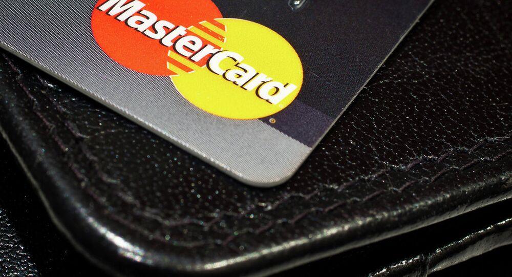 Mastercard credit card and a wallet