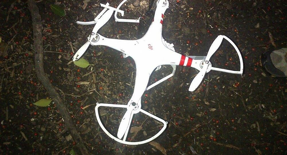 This photo provided by the US Secret Service shows the drone that crashed onto the White House grounds.