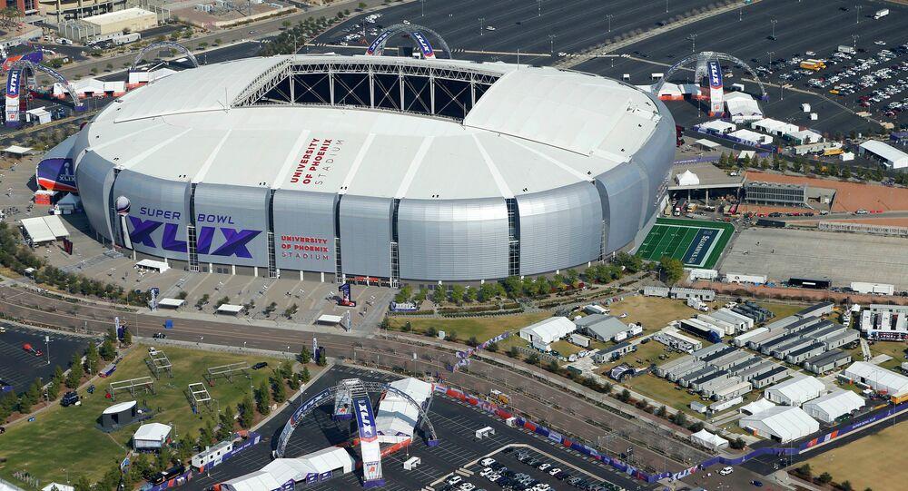 University of Phoenix Stadium in Glendale, Arizona, will host Super Bowl XLIX between the New England Patriots and Seattle Seahawks.