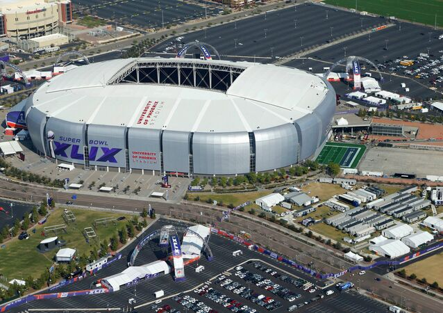 State Farm Stadium, formerly known as University of Phoenix Stadium, in Glendale, Arizona, hosted Super Bowl XLIX in which the New England Patriots beat the Seattle Seahawks 28-24 on 1 February 2015.