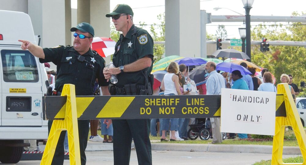 Police officers in Palm Beach, Florida.