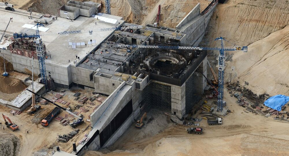 The construction site of Vostochny space center near Uglegorsk village in the Amur Region