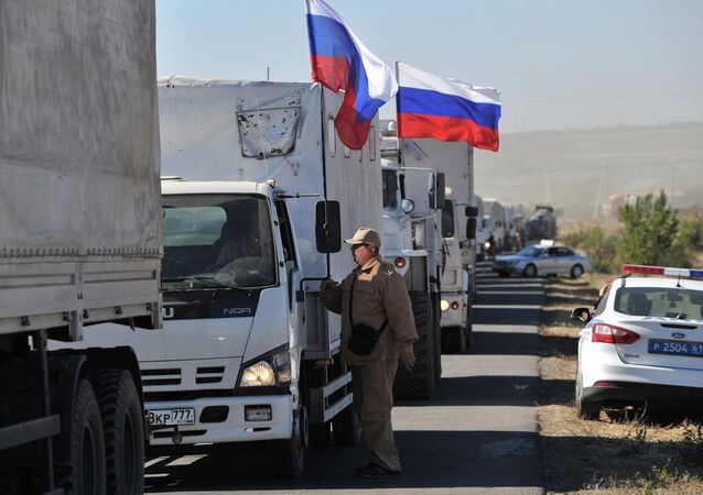 Russia'a humanitarian aid convoy for Eastern Ukraine