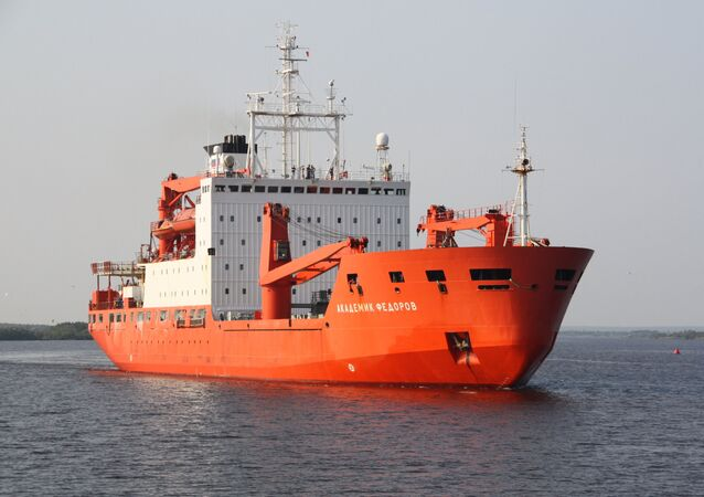 Research vessel Akademik Fyodorov sets off for Arctic Ocean expedition