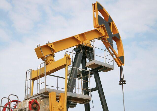 Sucker-rod pump at oil well