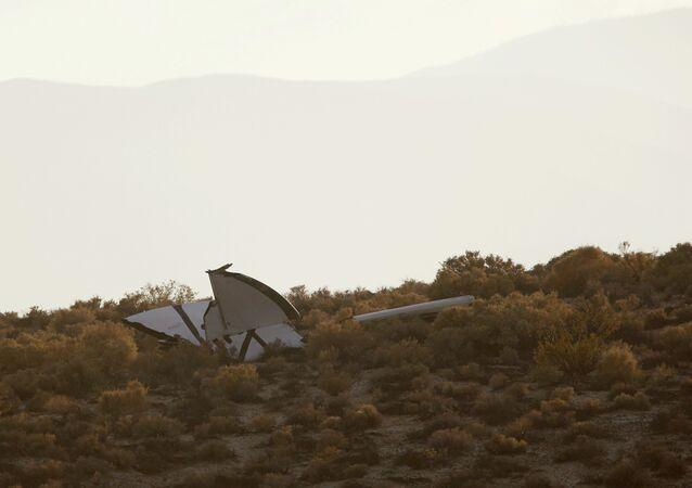 The crash site of Virgin Galactic's SpaceShipTwo