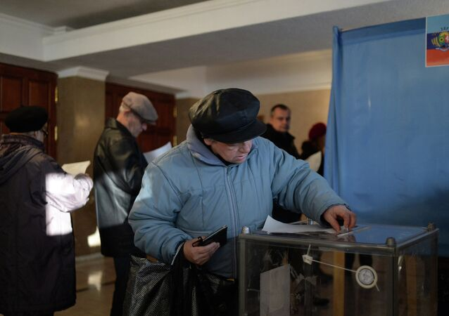 Lugansk residents vote on elections of the head of the Luhansk People's Republic and deputies of National Council of the republic