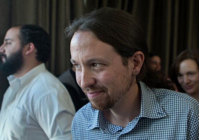 Pablo Iglesias, the leader of the leftist Podemos (We Can) party