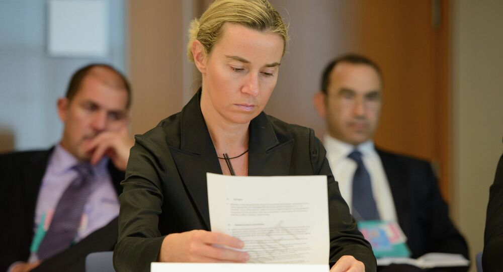 European Union's foreign policy chief Federica Mogherini