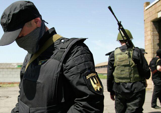 Fighters of Ukrainian Donbas Battalion