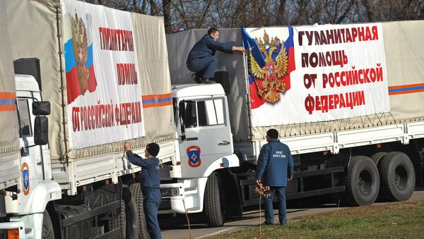 Russian humanitarian aid convoy has reached Donetsk and Luhansk - Sputnik International