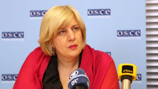 Dunja Mijatoviс, OSCE Representative on Freedom of the Media, said that the OSCE has recommended its member states avoid limiting the freedom of the media in anti-extremism laws that they may adopt. - Sputnik International