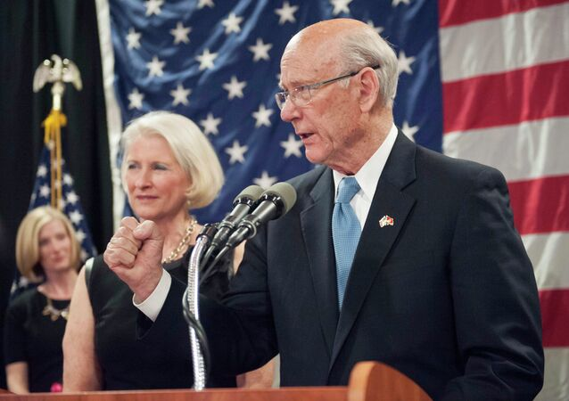 Kansas Republican Senator Pat Roberts speaks about his plans after being re-elected in the U.S. midterm election