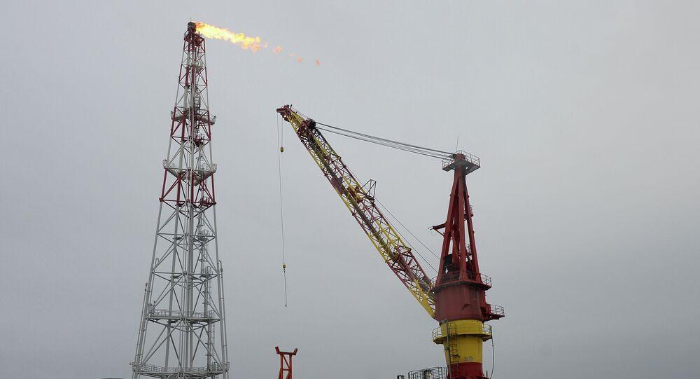 Prirazlomnaya ice-resistant oil platform