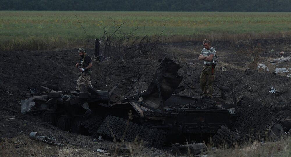 Lugansk People's Republic militia take over Dolzhansky border crossing point on Russian border