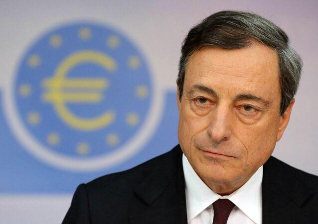 The European Central Bank (ECB) president Mario Draghi