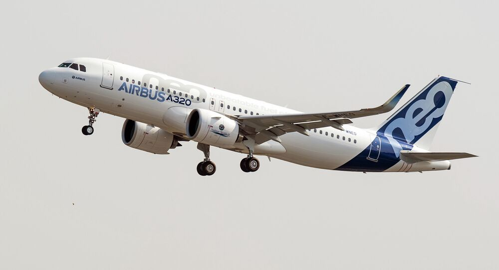 The new Airbus A320neo takes off for its first test flight at Toulouse-Blagnac airport, southwestern France, Thursday, Sept. 25, 2014