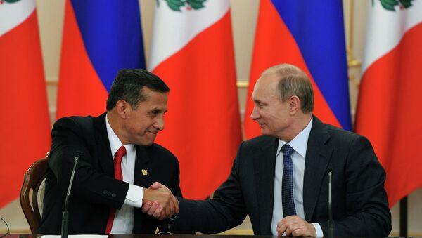 Russia will take two small Peruvian satellites into orbit, President Vladimir Putin told reporters after talks with his Peruvian counterpart Ollanta Humala. - Sputnik International