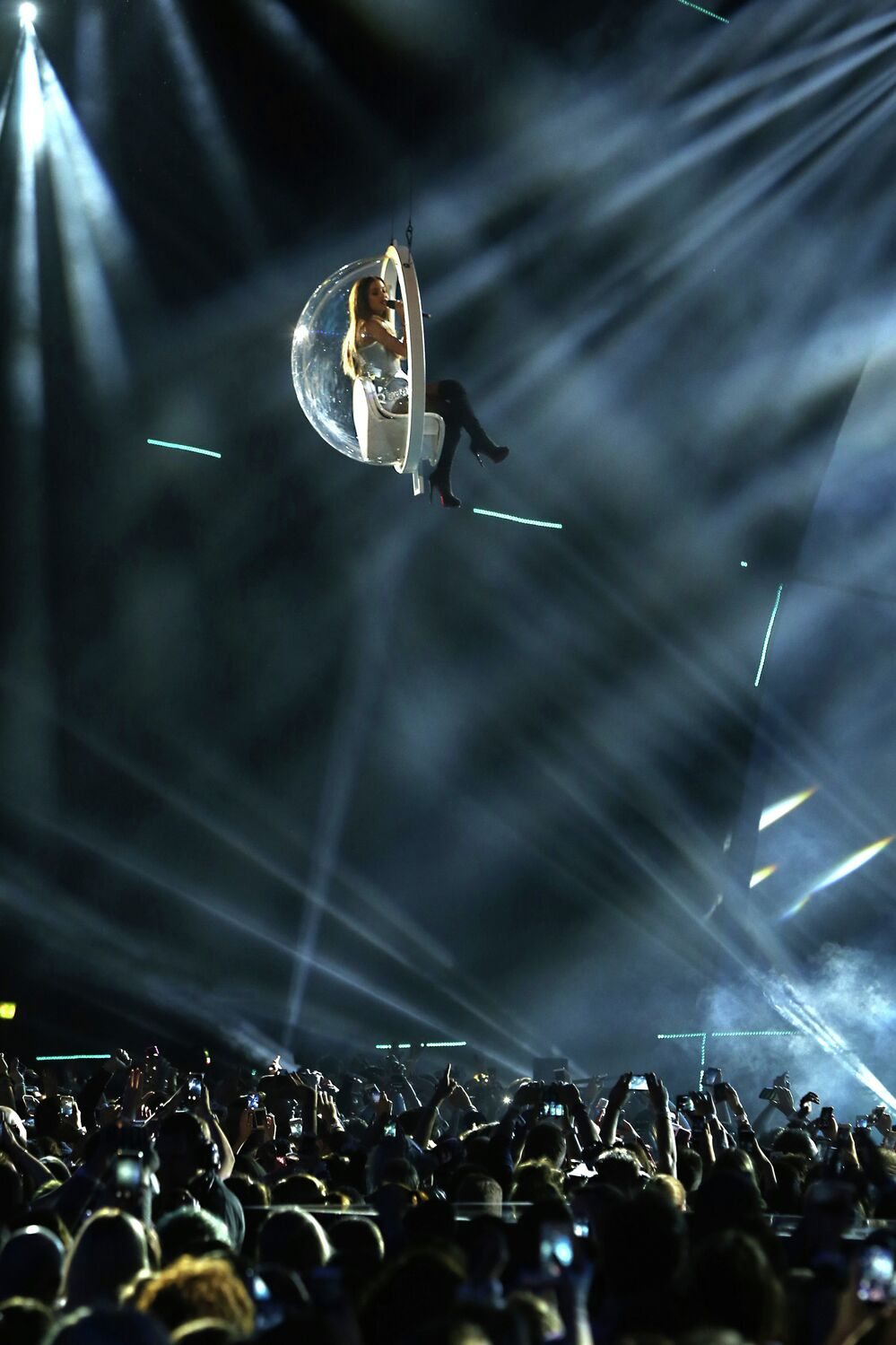 Arina Grande  performs at a ceremony of MTV Europe Music Awards - 2014
