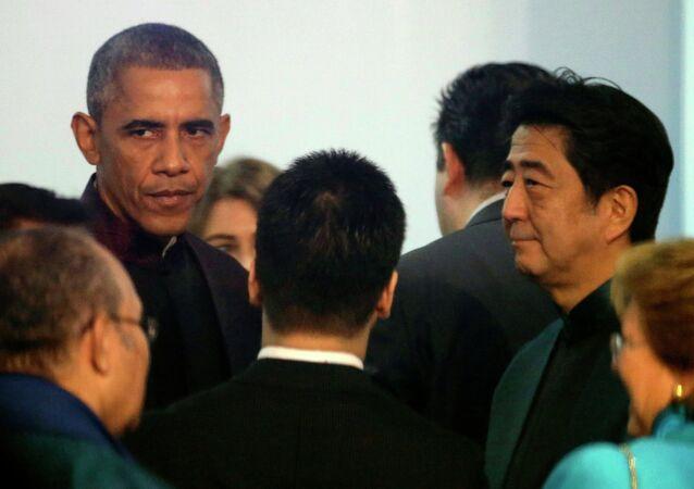U.S. President Barack Obama and Japanese Prime Minister Shinzo Abe