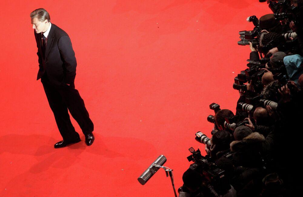 Актер Леонардо Ди Каприо на 60-й Берлинале Международного кинофестиваля