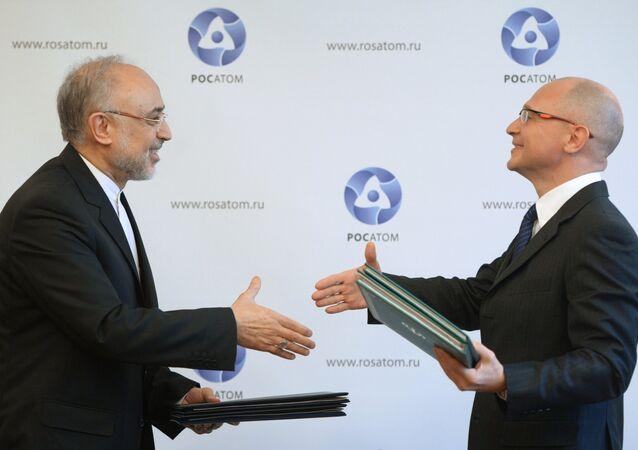 Подписание соглашения о строительстве двух новых атомных электростанций на территории Ирана