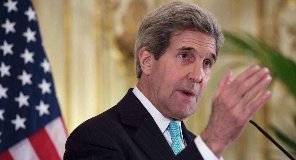 US Secretary of State John Kerry speaks speaks in Washington on Monday, November 17, 2014.