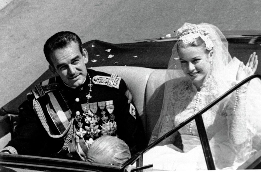 Свадьба принца Ренье III и Грейс Келли