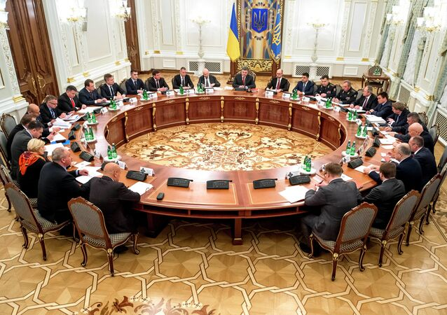 Ukrainian President Poroshenko holds meeting of Security and Defense Council