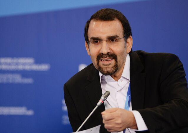 Iran's Ambassador to Russia Mehdi Sanaei at the 11th Meeting of Valdai Discussion Club in Sochi
