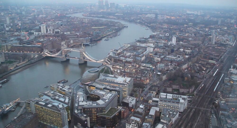 View of London from 300-meter-high skyscraper