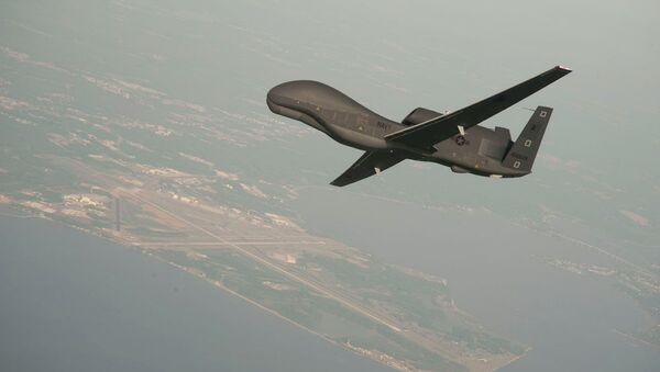 RQ-4 Global Hawk unmanned aerial vehicle conducts tests over Naval Air Station Patuxent River - Sputnik International