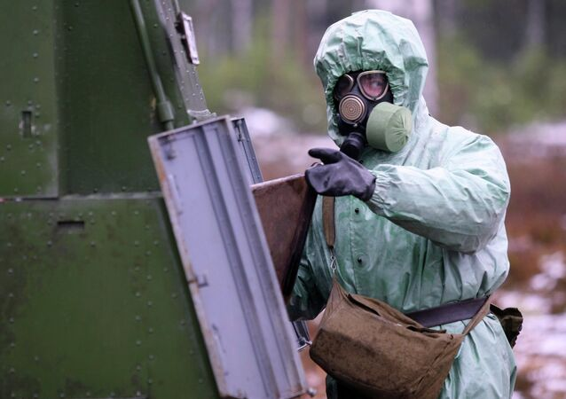 Сhemical and biological defense troops conducted live fire drills