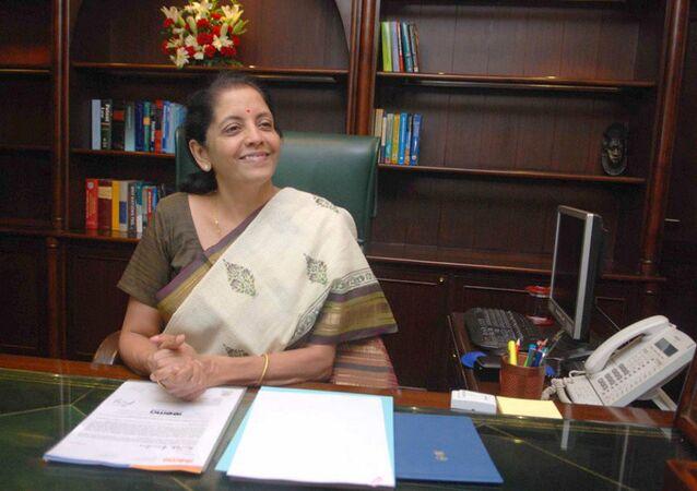 India's Commerce Minister Nirmala Sitharaman.