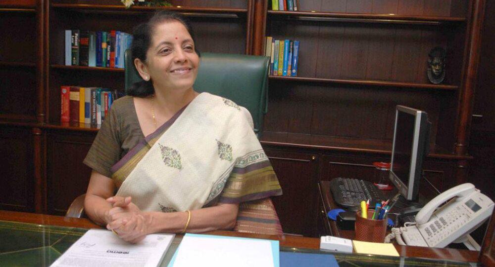 India's Commerce Minister Nirmala Sitharaman