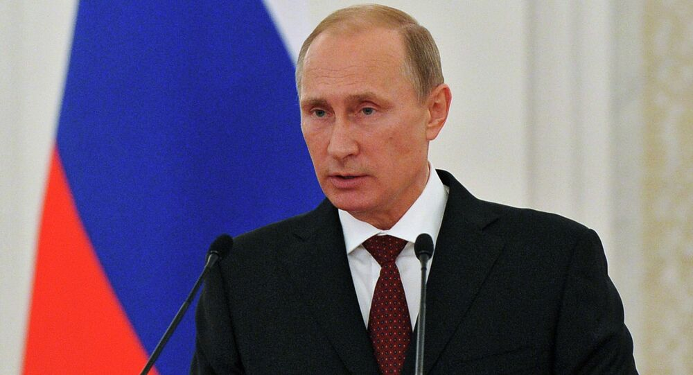 Vladimir Putin presents state awards to foreign citizens
