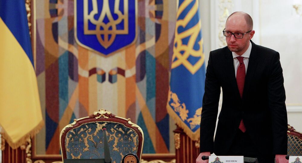Ukraine's Prime Minister Arseny Yatsenyuk arrives for the Security Council meeting in Kiev November 4, 2014
