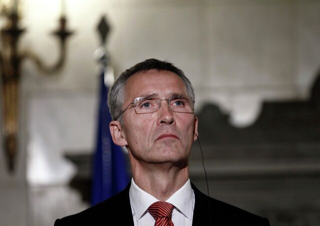 NATO Secretary General Jens Stoltenberg attends a news conference after his meeting with Greece's Prime Minister Antonis Samaras (not pictured) in Athens October 30, 2014