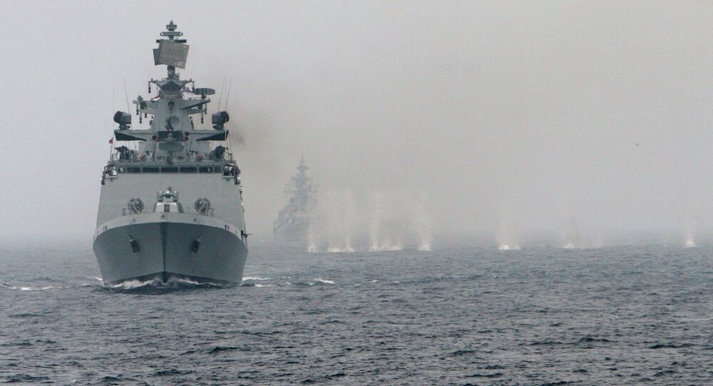 Russian-Indian naval exercise Indra-2014