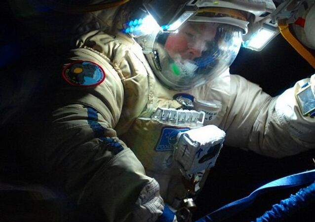 Alexander Samokutyaev during the 40th spacewalk