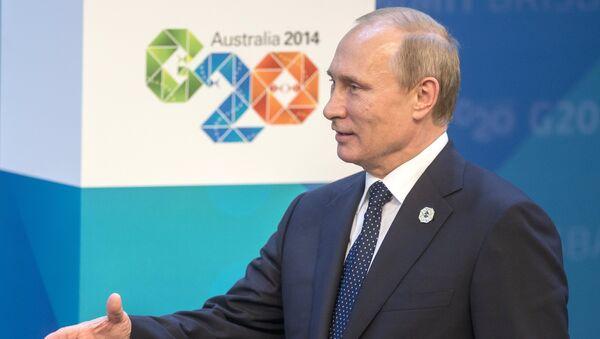 During G20 summit in Australia's Brisbane Russian President Putin held bilateral meetings with German Chancellor Merkel and European Commission President Juncker. - Sputnik International