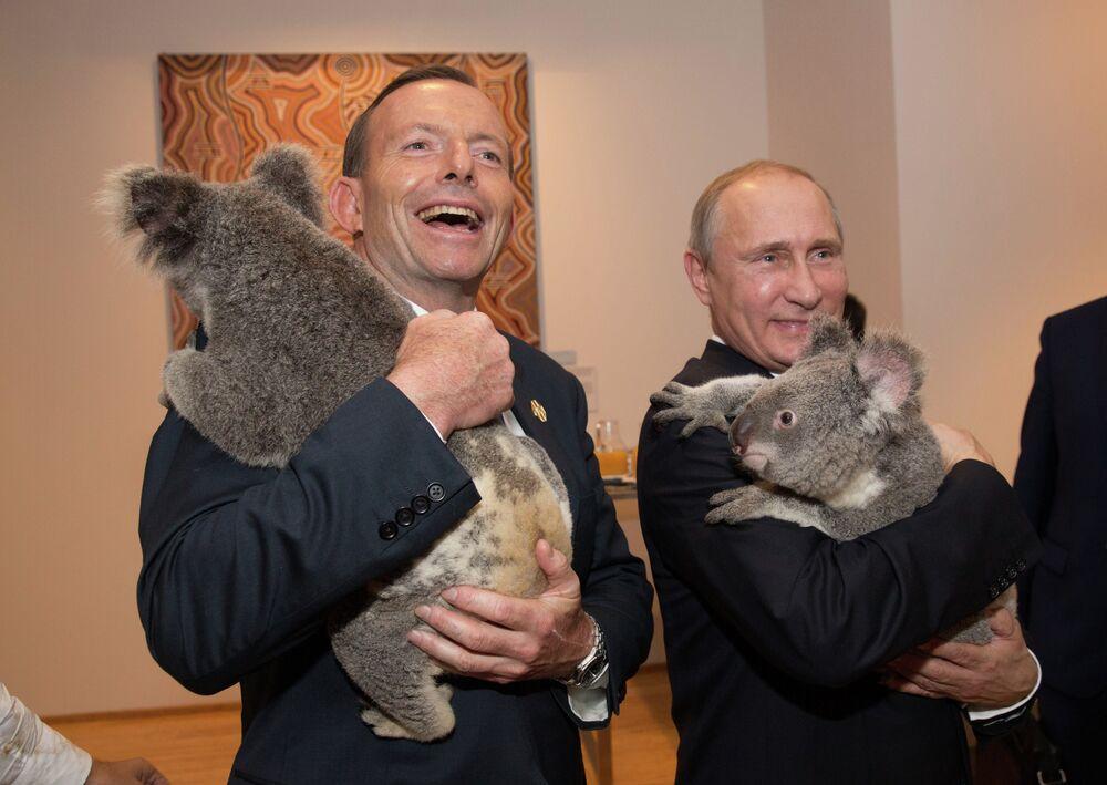Prime Minister of Australia Tony Abbott and President of Russia Vladimir Putin