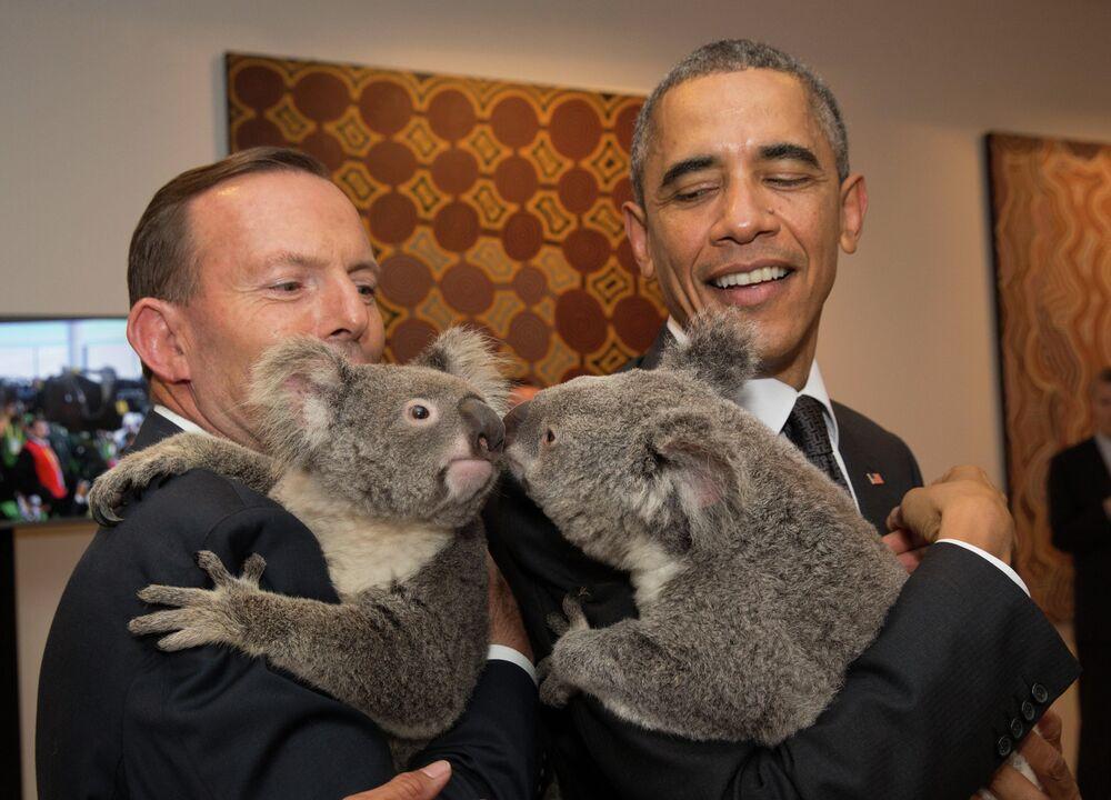 U.S. President Barack Obama and Australia's Prime Minister Tony Abbott