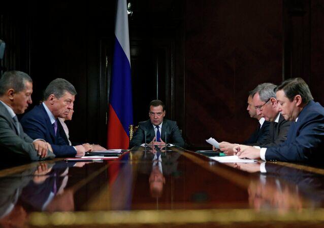 Dmitry Medvedev chairs meeting with his deputies