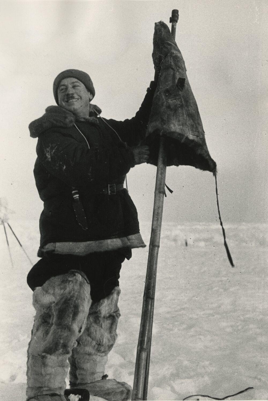 I.D.Papanin at the North Pole