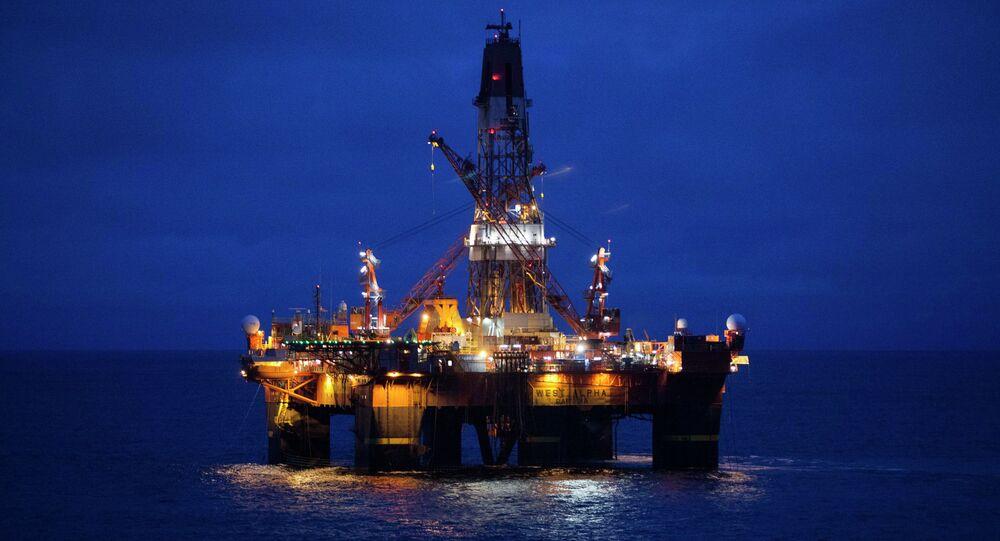 Russian Arctic oil drilling platform.