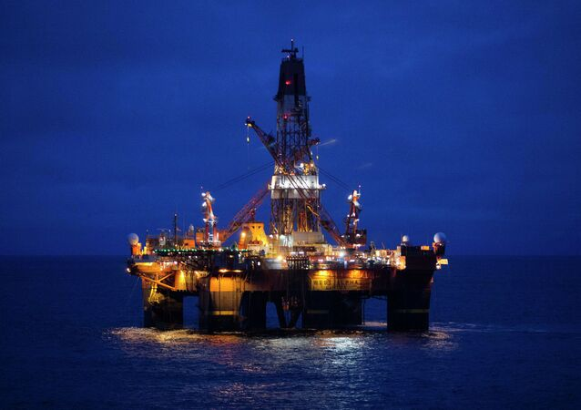 Russian Arctic oil drilling platform.