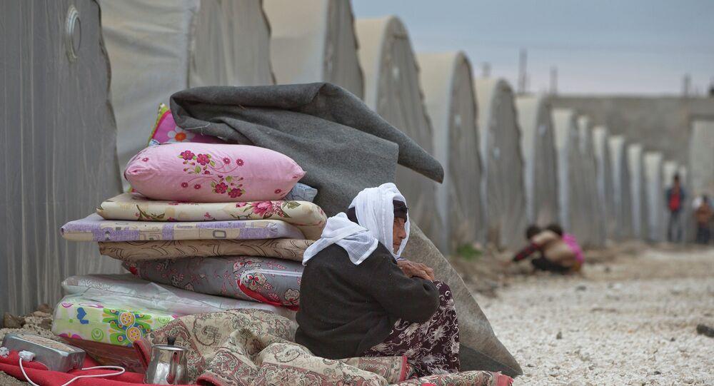 A Syrian Kurdish refugee woman